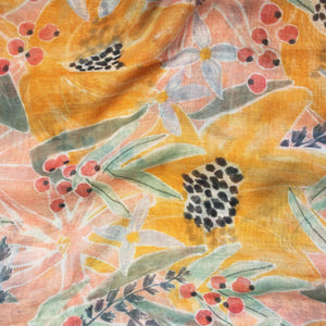 Eden Pink and Yellow Floral Scarf