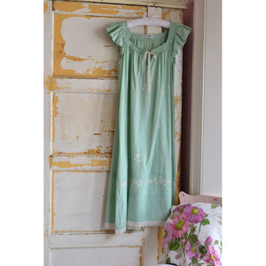 Ladies Green Cotton Nightdress 'Margo'