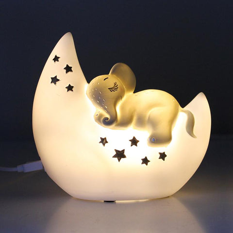 Mother and Baby Rabbit Lamp