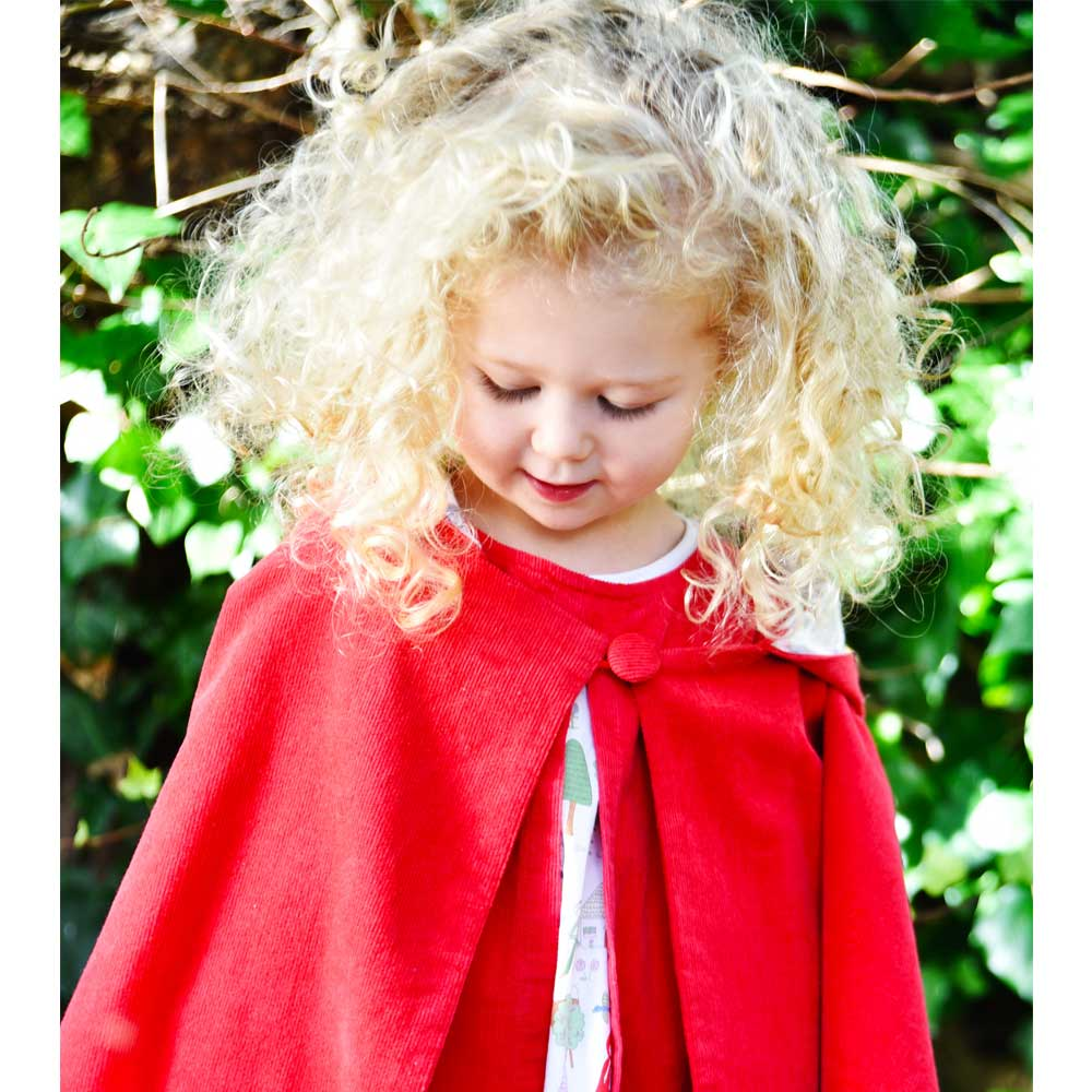 Red Riding Hood Cord Cape