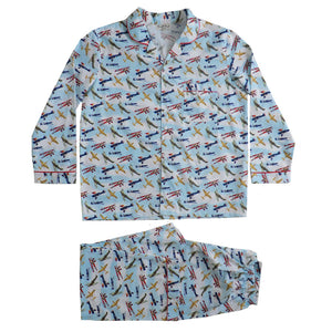 Men's Aeroplane Print Cotton Pyjamas