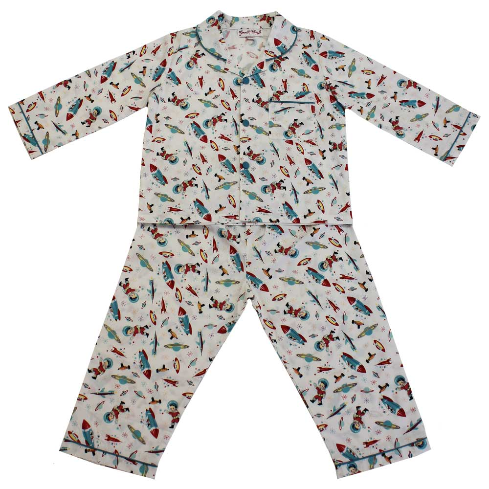 Children's Space Print Cotton Pyjamas