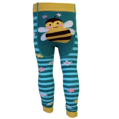 Girl's Blue Ladybird Leggings