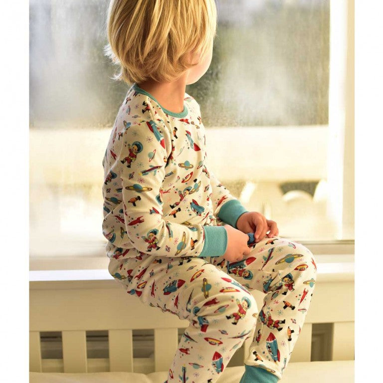 Childrens Retro Space Cosy Cotton Pyjamas