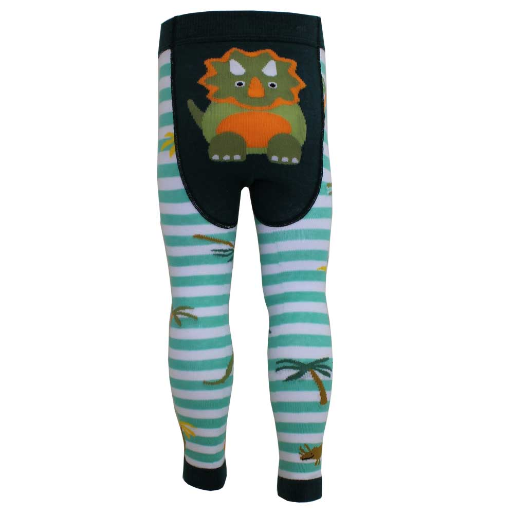 Boys Green Dinosaur Leggings