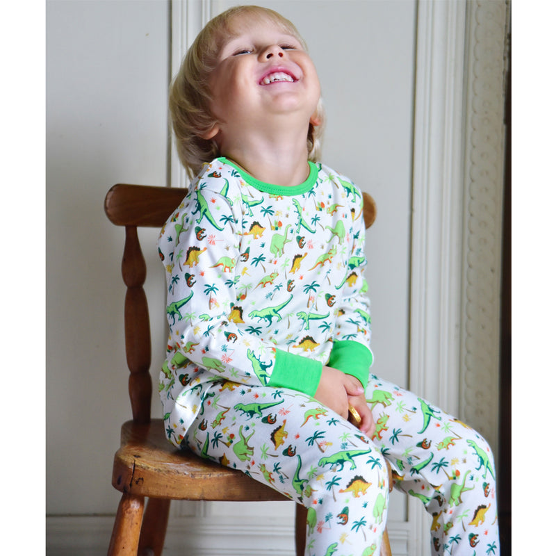 Children's Dinosaur Print Cosy Cotton Pyjamas