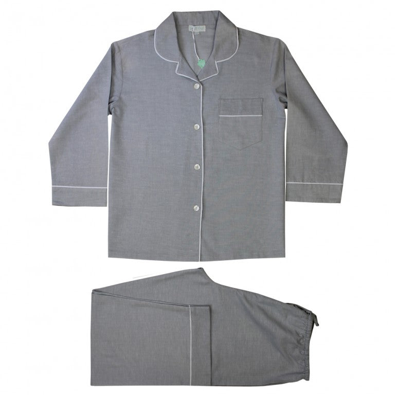 Ladies Grey Linen Pyjamas