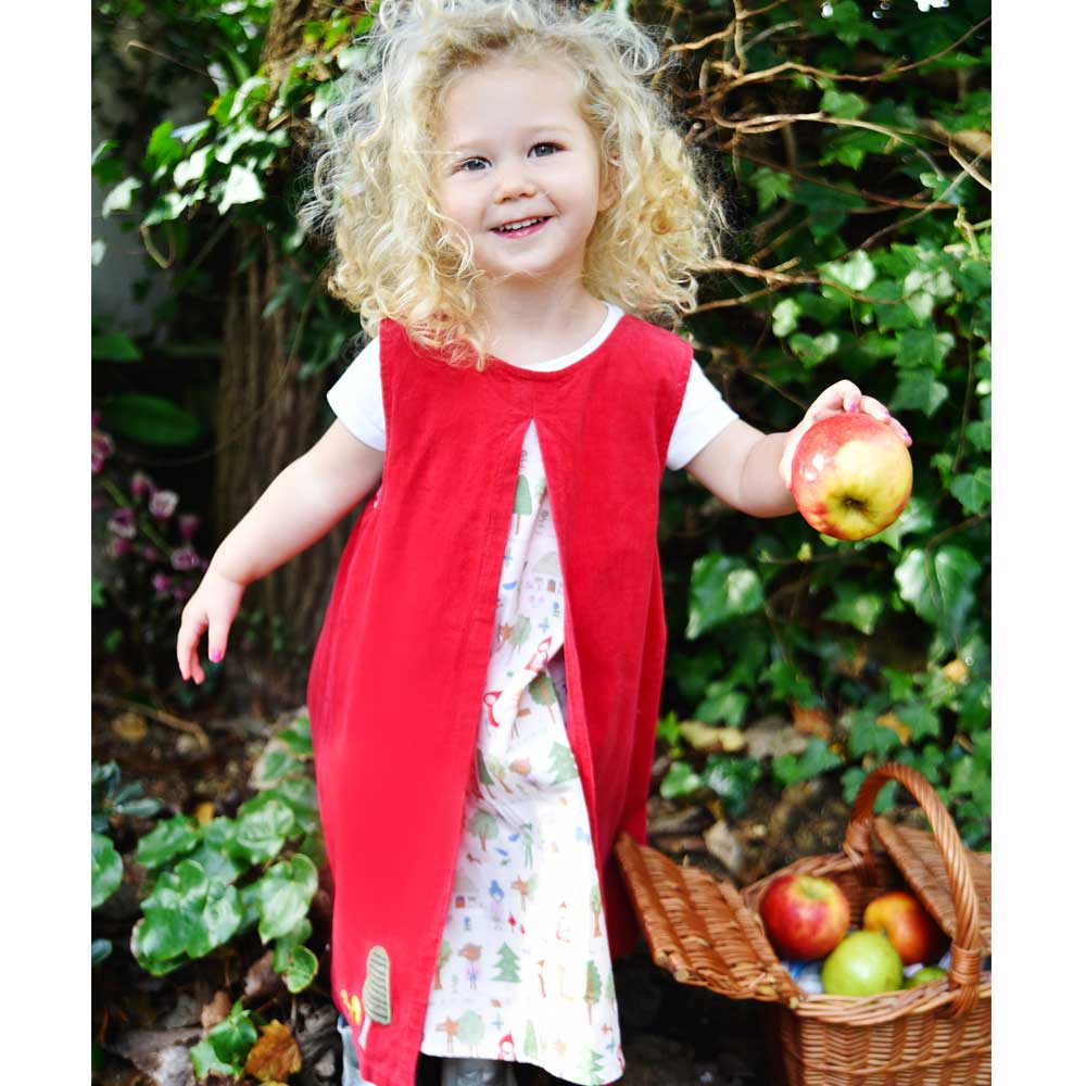 Red Riding Hood Sleeveless Cord Dress