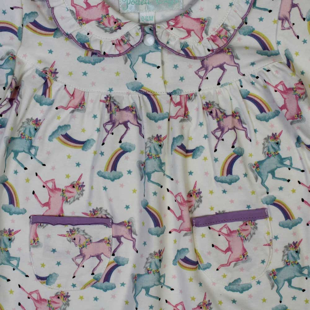 Magical Unicorn Long Sleeve Baby Jumpsuit