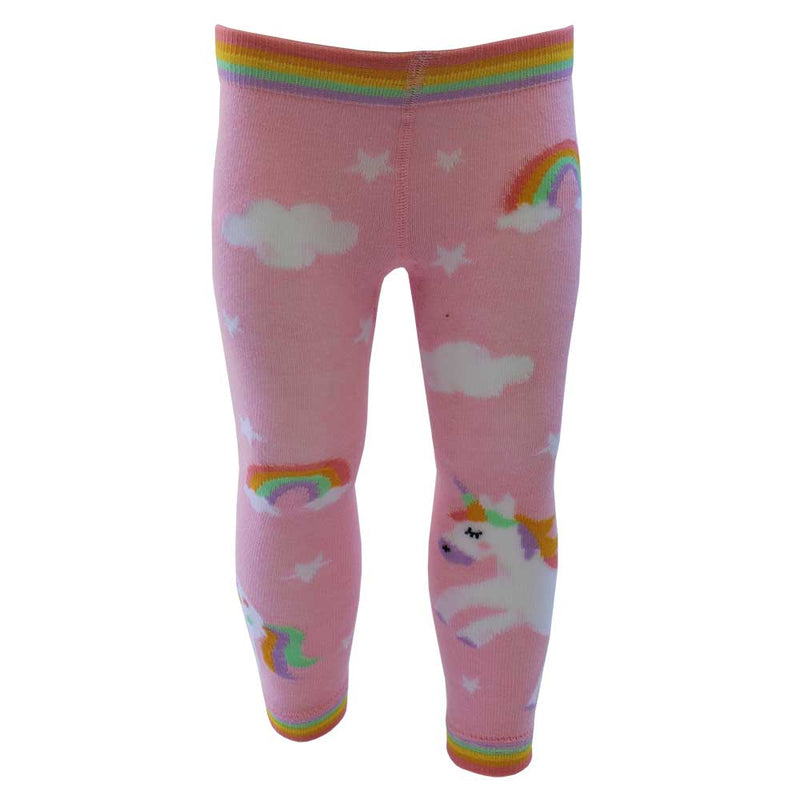 Girl's Pink Unicorn Leggings
