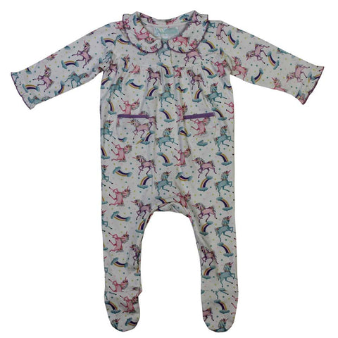 Dinosaur Cotton Knit Baby Jumpsuit