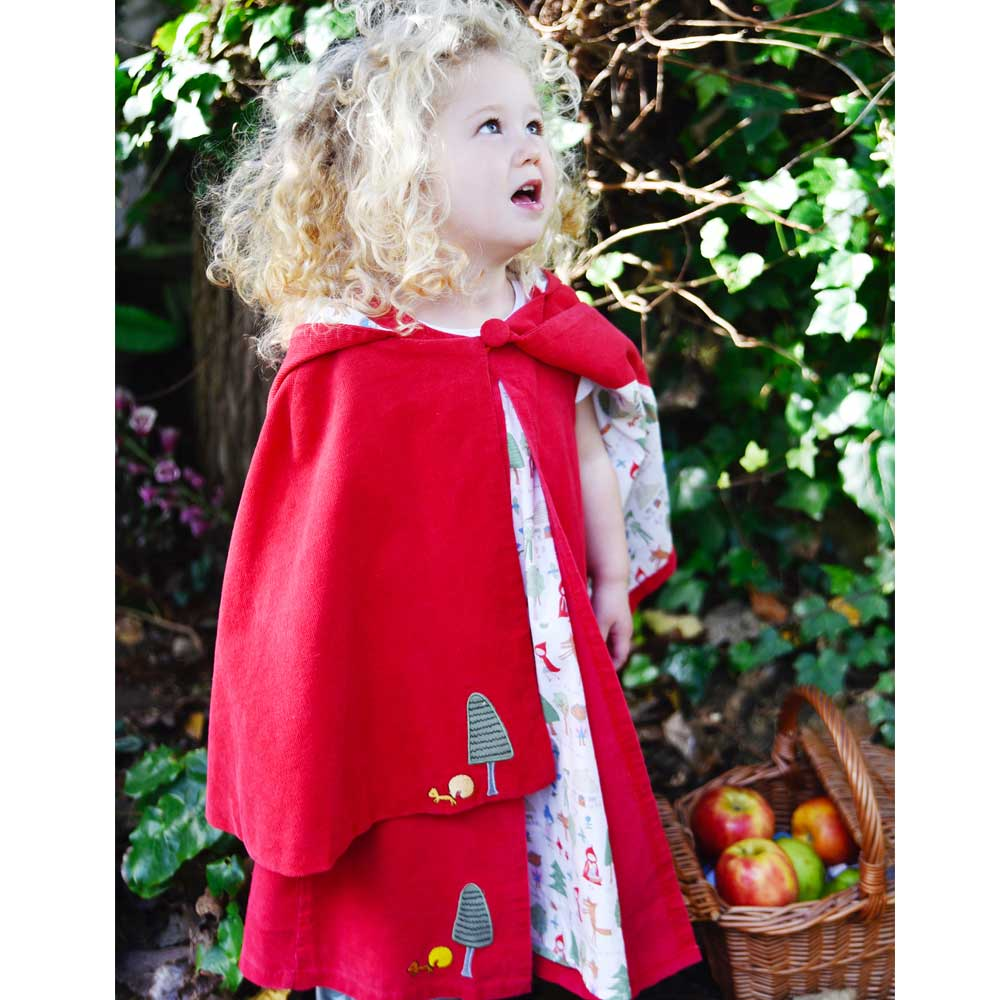 Little Red Riding Hood Cord Cape