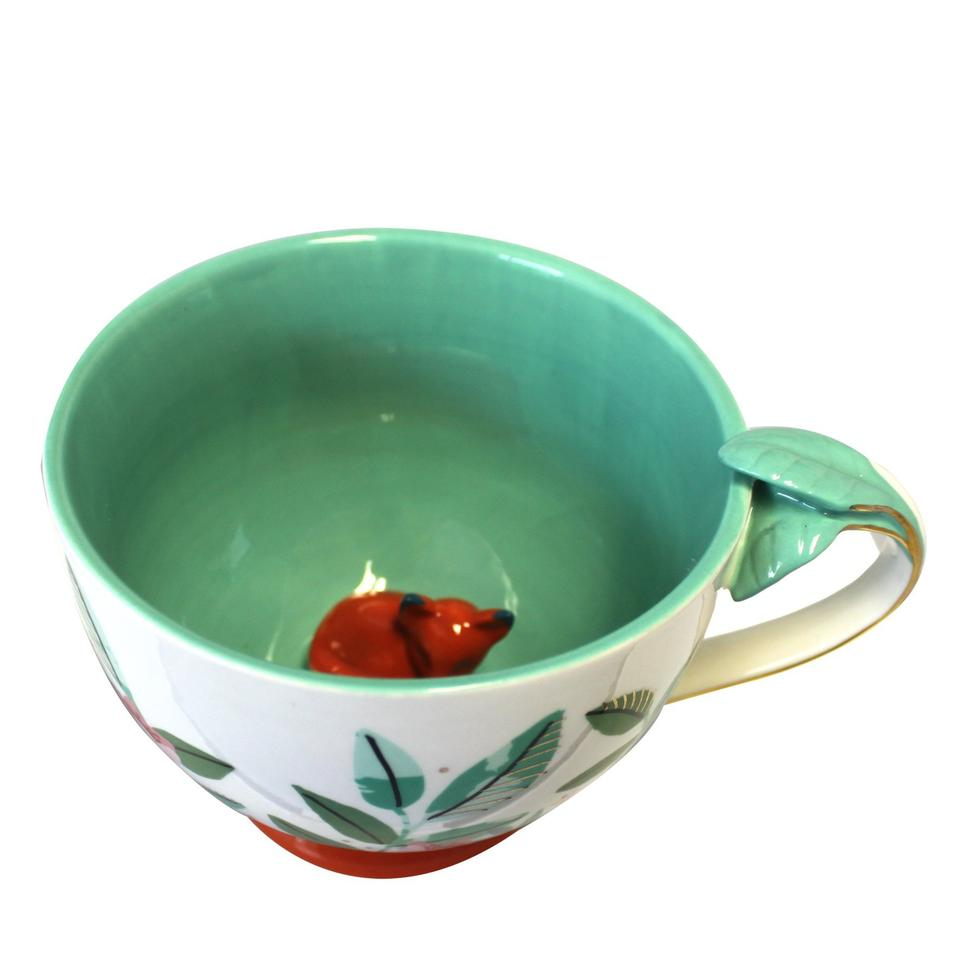 Sleeping Fox Large Teacup With Gift Box