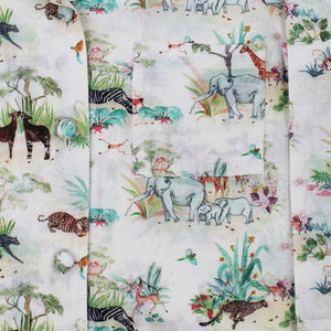 Children's Safari Print Cotton Pyjamas