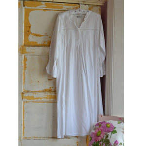 Ladies Long Sleeve Nightdress with Pintucking 'Anna'