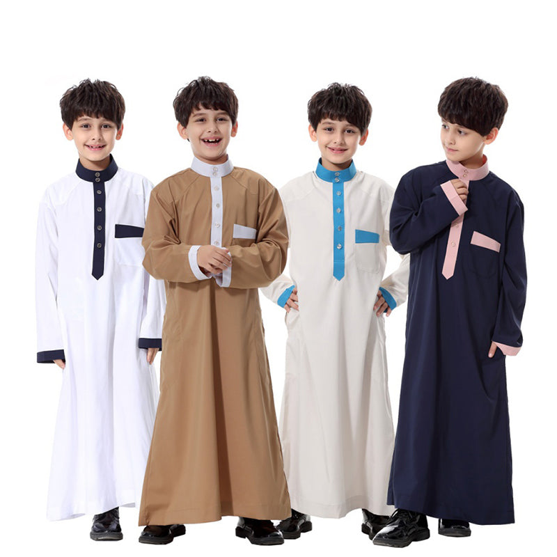 2017 New Arrival Children Muslim Clothes Kids Wear Robes Youth Clothing Hui Ethnic Costumes