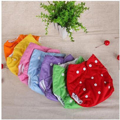 Baby Diapers Washable Reusable Nappies Grid/Cotton Training Pant Cloth Diaper Baby Fraldas Winter Summer Version Diapers #54