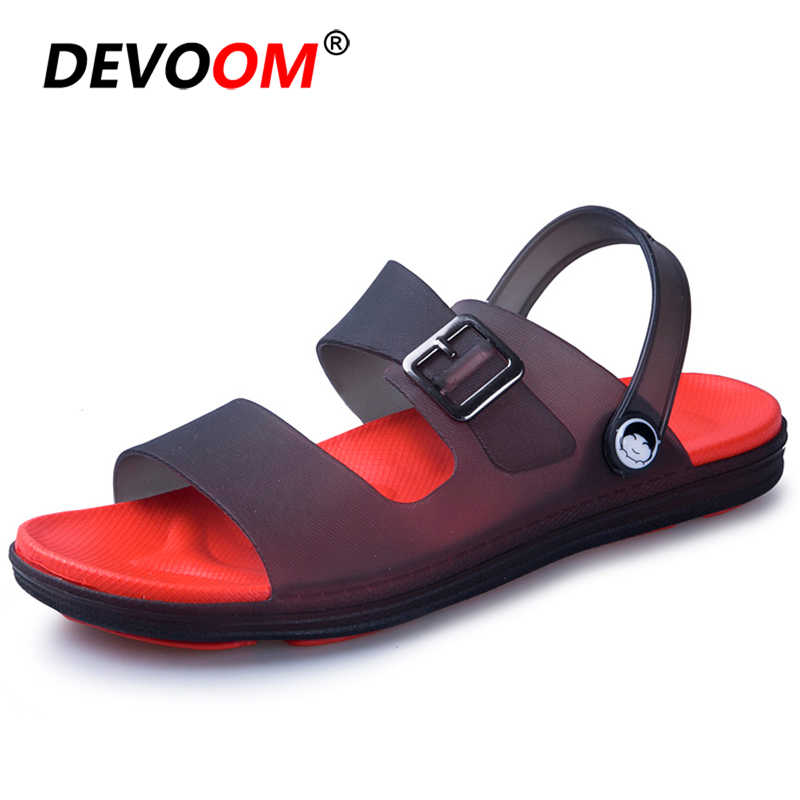 2019 Fashion Air Mesh Zuecos Hombre Lightweight Sandal Men Shoes Summer White Rubber Sandals Men's Sandals Casual Flipflops Men