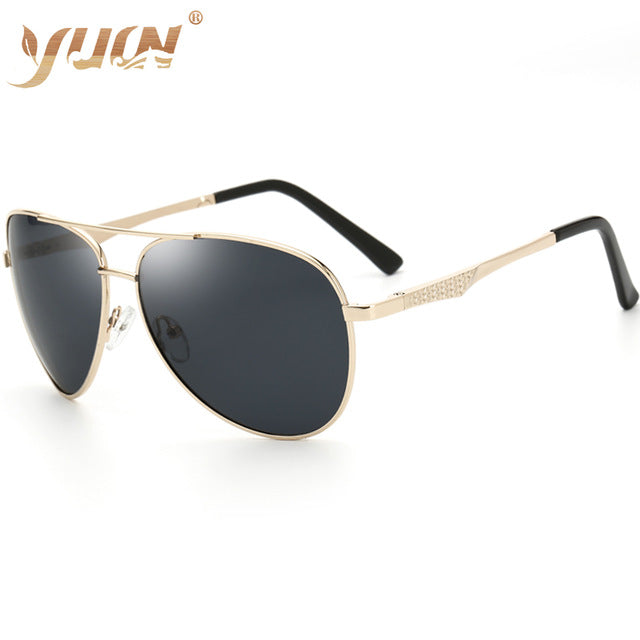 Classic men's big box sun glasses spring-heeled polarized glasses outdoor travel fishing sunglasses aviator sunglasses A103