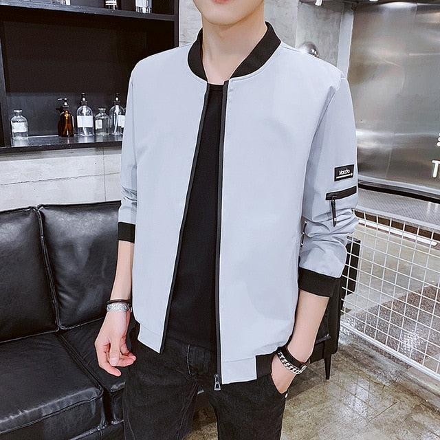 Coat men pop 2019 new Spring and Autumn Korean version trend baseball suit Korean version handsome casual jacket men's MP332
