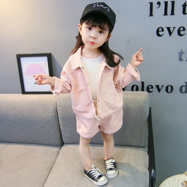 Children's Wear Cowboy Suit 2018 Spring and Autumn Season New Boys and Girls Two-piece Set Leisure Kit Long Sleeve Sweatshirts