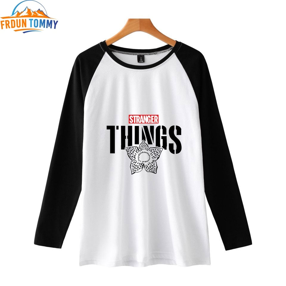 Stranger Things 2D Fashion Printed Raglan T-shirts Women/Men Long Sleeve Tshirt New Arrival Hot Sale Casual Streetwear Clothes