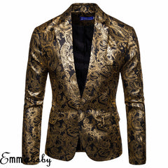New Mens Suit Sequins Casual Blazer Coat Brand Blazer British's Style casual Slim Fit Jacket Formal Weeding Party Tuxedo Outwear