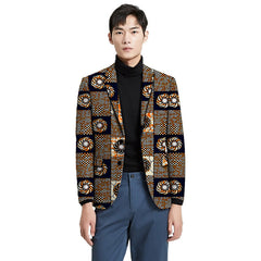 Custom made Men blazer dashiki print formal suit jacket for African party/wedding man's Ankara outfit fashion African coat