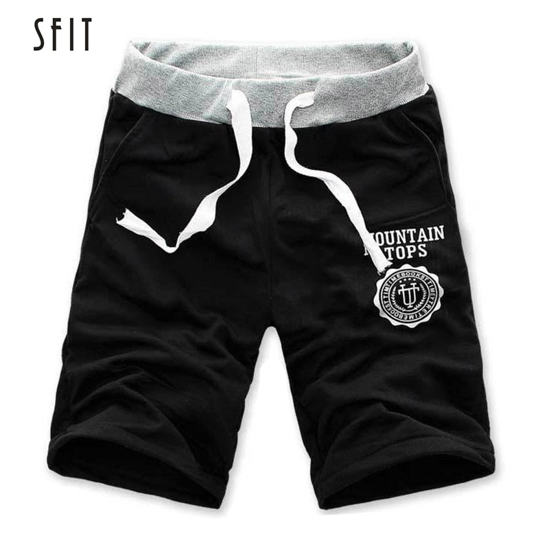 SFIT Men Shorts Half Summer Beach Print Breathable Cotton Fashion Casual For Outdoor Male Pantalones Soft Shorts M-3XL Hot sale