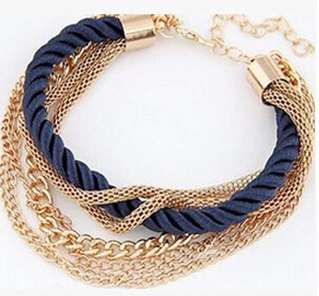 New fashion rope chain decorated bracelet girl six color hot bracelet summer party special jewelry accessories