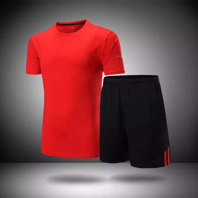 2017 Men's Sportswear Men Gym Clothing Football Jersey Training Jerseys Jogging Homme Sets Running Sportsman Wear SPORT SUIT