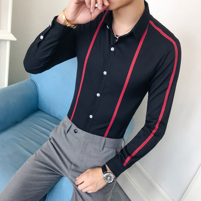 Plus Size Men Shirt Brand New Slim Fit Casual Men's Social Shirts Long Sleeve Business Formal Wear Party Dress Shirts 5XL-S Sale