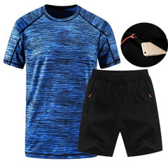 2018 Summer Men Sportswear Gym Clothing Sport Suit Basketball Shirts Jogging Pants Beach Shorts Gym Fitness Running Sets 2XL-5XL