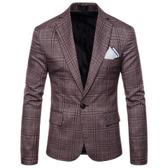 2018 New Arrival Business mens blazer Casual Blazers Men lattice Formal jacket Popular Design Men Dress Suit Jackets M-4XL