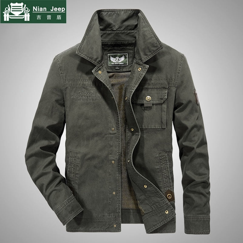 Plus Size New Spring Jacket Men High Quality Casual Cotton Outwear Brand AFS JEEP Mens Jackets Windbreaker Bomber jacket M-6XL