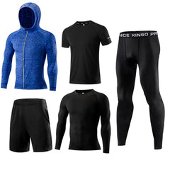 New Arrival Sports Suit Men's Running Sets Jogging Basketball Underwear Sportswear Gym Tights Running Tracksuit Training Clothes