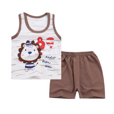 Summer Children's Wear Cotton Kids Vest Suit Boys Girls Sleeveless Vest +Shorts Two Sets