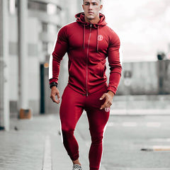 Men Running Sportswear Sets Sweatshirt Sweatpants Gym Fitness Bodybuilding Hoodies Pants Male Jogging Crossfit Brand Tracksuits