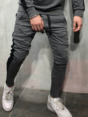 Men Long Casual Sweat Pants Slim Fit Trousers Joggers Sweatpants Striped Autumn Winter Toursers Causal Pants