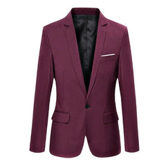 Fashion Spring Autumn Men Blazer Long Sleeve Solid Color Slim Man Casual Thin Suit Jacket Office Blazers Plus Size S-6XL AIC88
