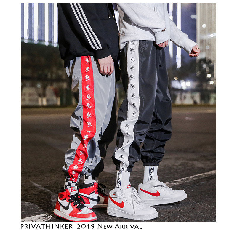 Privathinker Streetwear Side Striped Joggers Pants Men 2019 Mens Aesthetic Fashions Sweatpants Male Vintage Korean Spring Pants