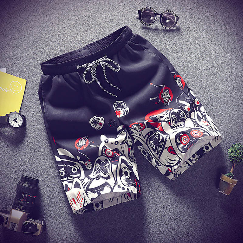 2019 Men's beach shorts personality printing  summer thin section breathable comfort casual men's shorts large size M-4XL