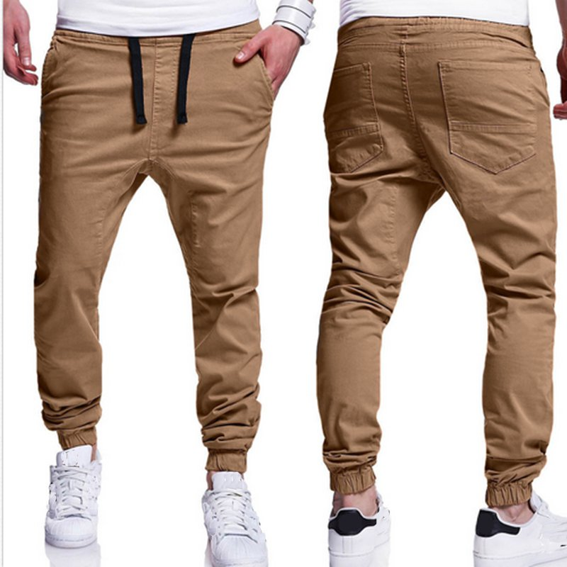 INCERUN 2019 Summer Men Leisure Causal Harem Pants New Fashion Hip Hop Chinos Trousers Joggers Cotton Sweatpants Elastic Cuff