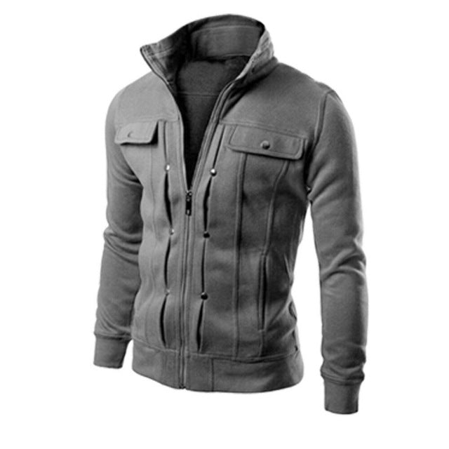2019 Hot Men's Outwear Sweater Autumn Winter Hoodie Warm Coat Jacket Slim Hooded Sweatcoat Men Coat Jacket