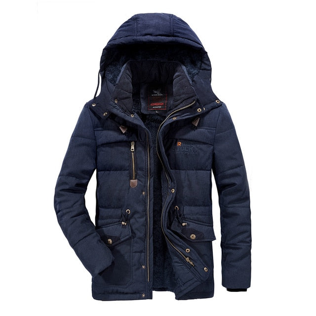 Mens Winter Warm Fur Fleece Jacket Plus Size 5XL 6XL 7XL 8XL Thicken Cotton-Padded Parka Men Hooded Windbreaker Army Jacket