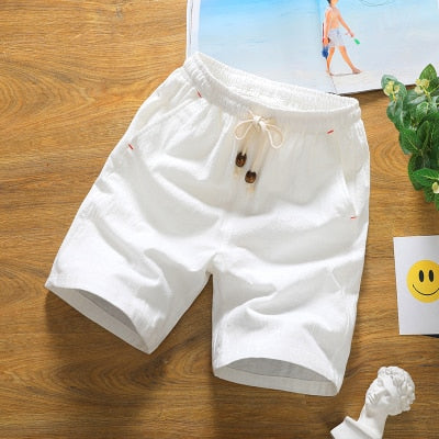 2019 Fashion Men's summer Elastic waistline cotton linen casual shorts/Men breathable Casual harlan shorts Plus size S-5XL