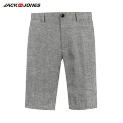 JackJones Men's Moisture-wicking Linen Knee-high Shorts E|218215530
