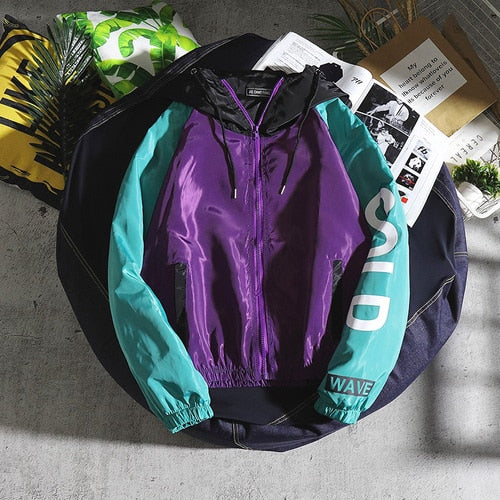 Jackets Men Letter Printed Hooded Patchwork Leisure Harajuku Daily Hip Hop Jacket Mens Trendy Korean Style Zipper Chic Coats