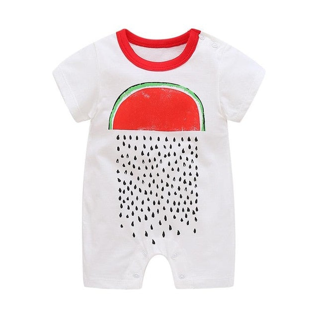 Summer Short Sleeve Rompers Baby Climbing