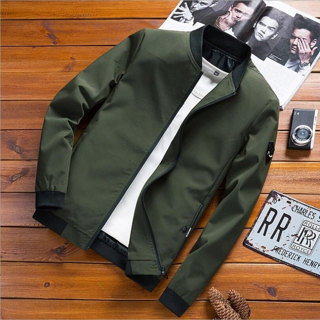 2019 New Jacket Men Casual Baseball Jacket Spring Autumn Fashion Slim Fit Men Bomber Jacket Thin Jackets Brand Casual Coat